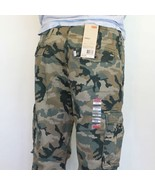 NEW LEVIS MENS RELAXED FIT ACE CARGO PANTS GREEN CAMOUFLAGE #0001 FREE S... - $40.00