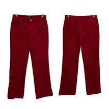 The Children's Place Stretch Red Shiny Corduroy Pants Girl's 12 (G-1K)  - $15.84