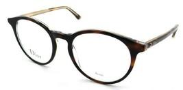 Christian Dior Rx Eyeglasses Frames Montaigne 15 G9Q 50-19-140 Havana Crystal - $161.70