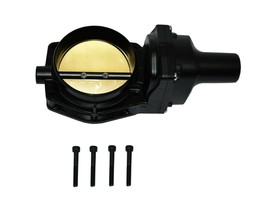 92 MM 4 BOLT THROTTLE BODY LS ENGINE DRIVE BY WIRE Compatible W/ CHEVY GM BLACK image 1