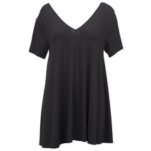Grace Elements Flowy Swing Top BLACK  Women's Sz. S-M NWT MSPR$48 - $21.48