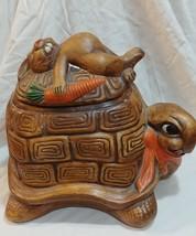 California original Vintage Tortoise And The Hare Cookie Jar - $67.72