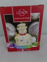 Lenox Pierced Snowman Color Changing Christmas Ornament macy's exclusive - $18.99