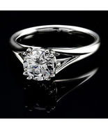 2.25Ct Round Cut White Diamond  Soliatire Engagement Ring 925 Sterling S... - $73.71