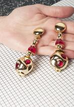 80s vintage golden statement clip-on earrings - $19.17