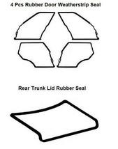 Set 5 Pieces Door + Trunk Rubber Weatherstrip Seal Mercedes Benz W126 SEL - $148.67