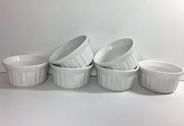 Corelle Corningware French White Set of 6 Ramekins 4-Ounce Stonesware NEW - $19.95