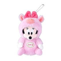 Minnie Mouse Plush Doll Badge Pig 2019 New Year Tokyo Disney Limited Japan - $51.41