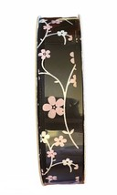 "Celebrate It Ribbon 360 Black Pink White Flowers 5/8"" x 7 yd  - $9.49"