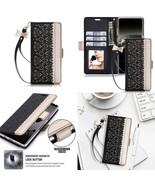 Samsung Galaxy Note 8 Case PU Leather Kickstand Flip & Card Slots Mirror... - $28.69