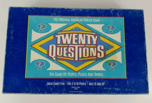 Primary image for Twenty Questions Board Game The Original American Parlor Game Pressman