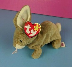 Ty Beanie Baby Nibbly Bunny 1998 Brown Bean Bag Animal Rabbit  - $9.89