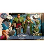 New 2015 Walt Disney Frozen Deluxe Troll Wedding Dolls set toys Olaf & 2... - $39.00