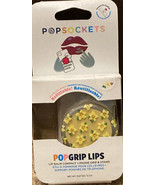 Popsockets PopGrip Lips Swap Top Vanilla Bean Flower Phone Grip Stand Po... - $14.84