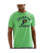 Champion Graphic Jersey Tee Size M, L Rain Forest Heather New With Tags - $9.99