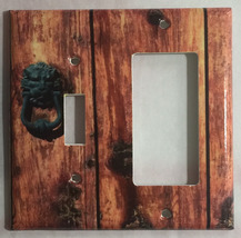 Rustic Barn Wood Door image Light Switch Outlet Wall Cover Plate Home Decor image 10
