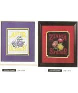 ZINNIA & ASTER FLOWERS   -  CROSS STITCH PATTERN ONLY    HM - EYUR - $6.39