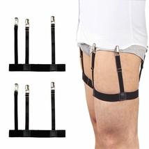 2 Pcs Men Shirt Stays Belt with Non-slip Locking Clips Keep Shirt Tucked... - $11.59