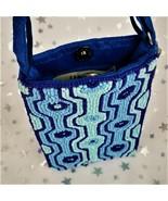 BAMBOO Trading Beaded Cross-body Bag/Clutch Purse Wristlet - Blue Aqua - $18.26
