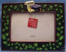 New Russ Graduation Picture Frame Graduate Ivy Black - $9.89