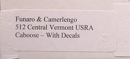 Funaro & Camerlengo HO Central Vermont USRA  Caboose Kit 512 image 3