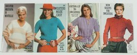 4 Women's Sweaters to Knit & Crochet Patterns booklets NEW 1980's Coats ... - $11.99