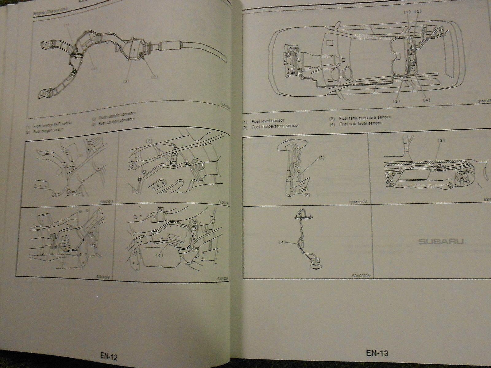 2002 Subaru Forester Engine Diagnostic Supplement Service Repair Shop Manual OEM