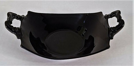 Black Central Glass Company Rectangular 7 inch  Bowl Plate Handles - $16.99