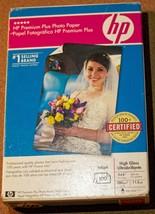 Hp Premium Plus Photo Paper High Gloss Ultrabrillant 4 X 6 100 Sheets Q5431A New - $8.90