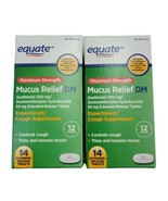 2x Equate Mucus Relief DM Maximum Strength Extended Release 14 ct Tablet... - $39.99