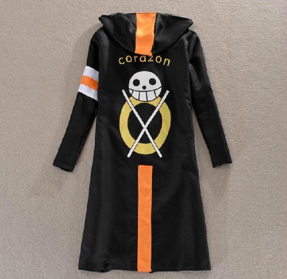 Anime One Piece Monkey D Luffy Trafalgar Law 3rd Coat Jacket Cloak Cosplay Costu