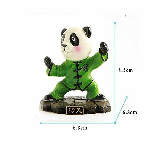 Cute Kongfu Panda Toy Mini Panda Puppet Home Decorations Kids' Gift(Green)