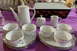 Vintage 15 Pc Noritake Reina Teapot Cream Sugar Snack Plates Cups - $134.28