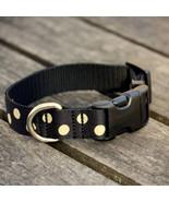 Candy Dot: Gold on Black Grosgrain Adjustable Dog Collar / Made in Japan - $29.00