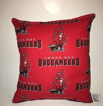 Buccaneers Pillow NFL Pillow Tamps Bay Pillow Football Pillow HANDMADE I... - $9.97