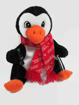 Coca-Cola Penguin with Red Scarf Plush Bean Bag Style  - BRAND NEW - $7.43