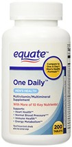 Equate - One Daily Multivitamin, Men's Health Formula, 200 Tablets