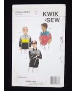 Kwik Sew Sewing Pattern Boys Collared Shirts Dress Shirt #2607 Sizes  4 ... - $6.95