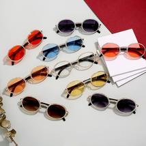 JASPEER Round Rhinestone Sunglasses Men Women Luxury Brand Designer Plastic Fram image 6