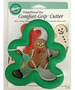 Wilton Gingerbread Boy Comfort Grip Cookie Cutter 1998 New on Card w/ Re... - $14.50
