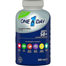 One A Day Men's 50 Plus Complete Multivitamin / Multimineral Supplement 300 Ct - $27.22
