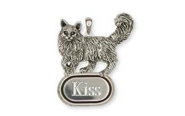 Maine Coon Personalized Pendant Handmade Sterling Silver Cat Jewelry MN1-DP - $128.00