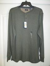 ARROW Crewneck Long Sleeve Men Warm Henley T-Shirt Forest Night HT S MSR... - $20.99