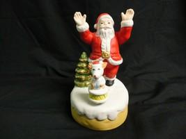 Santa & Dog Music Box Christmas Decoration, Plays Jingle Bells - $12.99