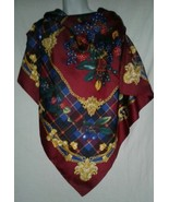 Art of the Scarf The Rack Vintage Made Italy 35 inch Square Rolled Edge ... - $19.99