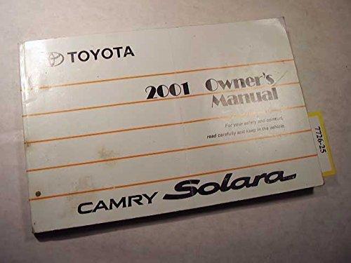 2001 Toyota Solara Owners Manual