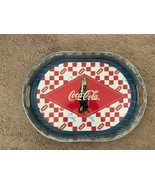 """COCA-COLA 16"""" OVAL GALVANIZED SERVING TRAY WITH HANDLES - $11.88"""