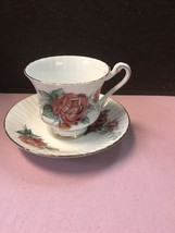 Vintage Cup And Saucer By Paragon With Scalloped Edges And Floral Design - $24.18