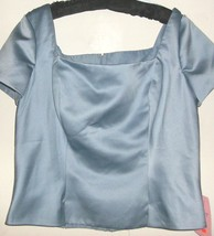 WOMEN'S BLUE FORMAL SHORT SLEEVE TOP SIZE 14 FOREVER YOURS - $22.00