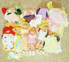 Lot of 96 3 Cabbage Patch Kids Dolls 93 outfits socks shoes tops bottoms bedding - $299.99